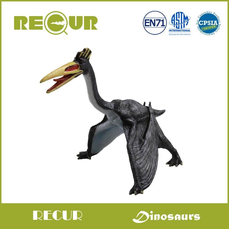 Recur Jurassic Quetzalcoatlus Dinosaur Model Highly Detailed PVC Toy Hand Painted Dinosaur Original Design Soft Dinosaur Toys
