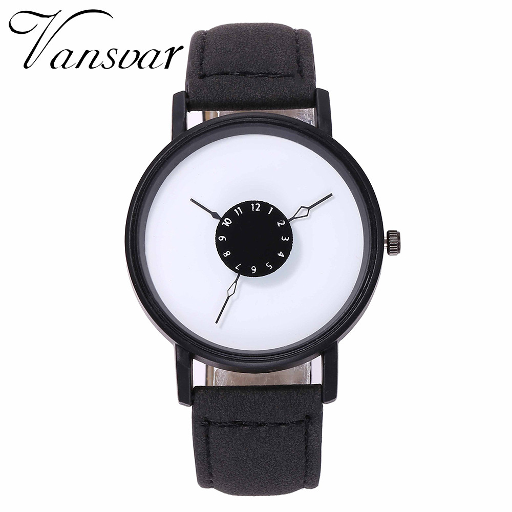 vansvar Fashion Creative Casual Watch Quartz Women's Leather Band New Wrist Watch Analog Wristwatch Gift Relogio Feminino Y5