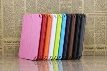 Caliente de LA PU Del Soporte Del Cuero Funda Para El Samsung Galaxy Tab 2 7.0 P3100 P3113 P3110 p6200 7 pulgadas tablet case + Stylus + protector de pantalla