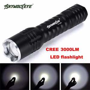 2019 Shining Hot Selling Fast Shipping Zoomable Focus 3000 Lumens 3 Modes CREE XML T6 LED 18650 Flashlight Torch Lamp