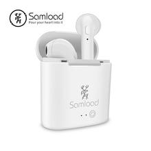 Samload Ture Sans Fil Écouteurs Casque Stéréo Bluetooth Casque i7s TWS Boîte De Recharge Pour Xiaomi Huawei iPhone X SE 6 7 Samsung