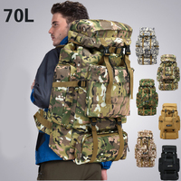 70L Outdoor Backpack Large Capacity Mountaineering Bag Camouflage Camping Luggage Bag Backpack