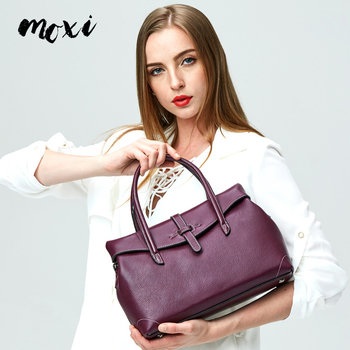 Moxi Women Handbag Genuine Leather Female Messenger Bag Cover Natural Cowhide Ladies Crossbody Bag Fashion Style Women Bag