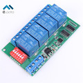4 Channel RS485 Multifunctional Delay Relay Module DC 12V MODBUS AT Instructions Control Remote Control Switch RS485 Relay