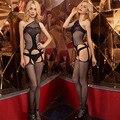 S apertadas tentação de saborear oco fishnet stocking sexy Feminino calças justas