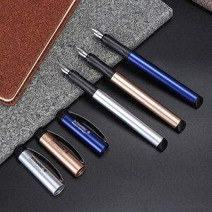 Image 2 - Schneider BK600 Fountain Pen Gift Box Set 0.5mm Iraurita Gel Dual Tip Vulpen Calligraphy Pen Dolma Kalem Kalem Office Supplies