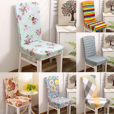 Super Fit Stretch Short Dining Room Chair Cover Protector Removable Slip Covers