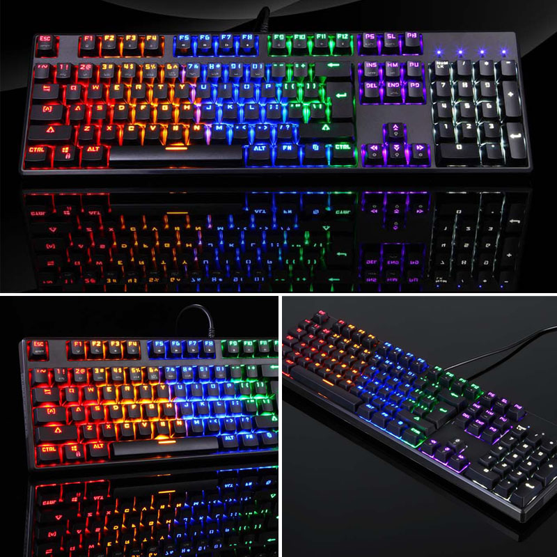 Image 4 - USB Wired Gaming Mechanical Keyboard RGB Backlight 104 Keys Anti ghosting Keys NK Shopping-in Keyboards from Computer & Office