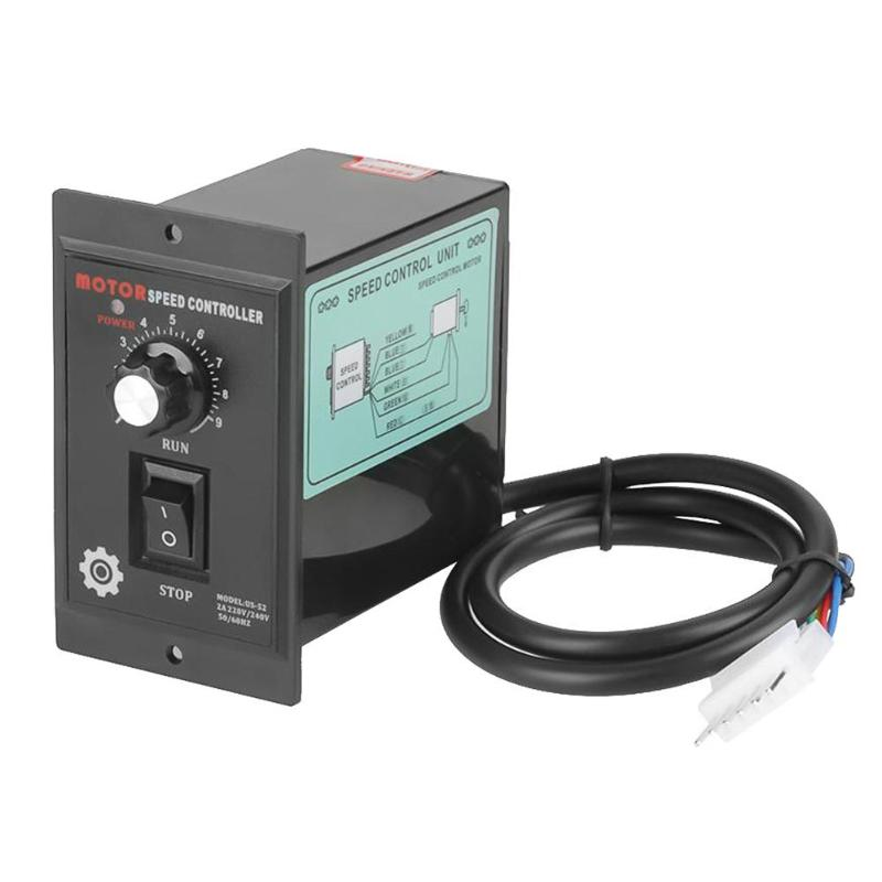 400W AC 220V Motor Speed Regulator Controller Forward & Backward 50/60hz 90-1400r/min 50HZ 90-1700r/min 60HZ