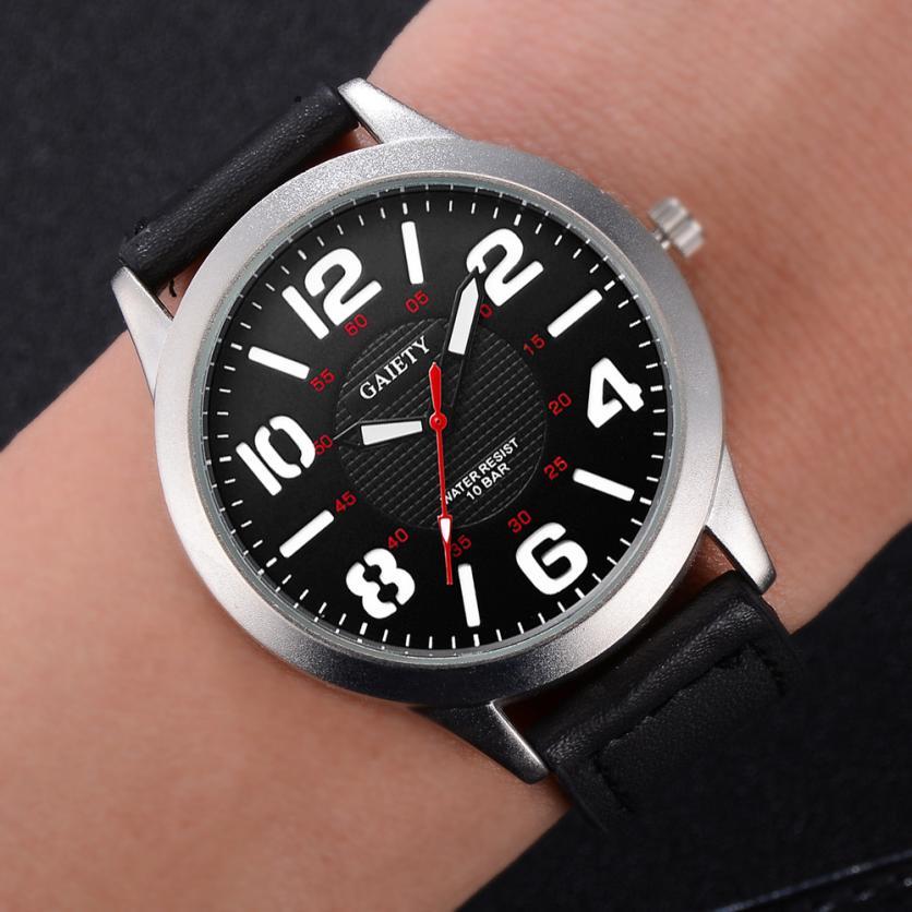 Male Fashion Pattern Quartz Watch Leather Strap Belt Watches men's wrist watches luxury design quartz watch men Hours