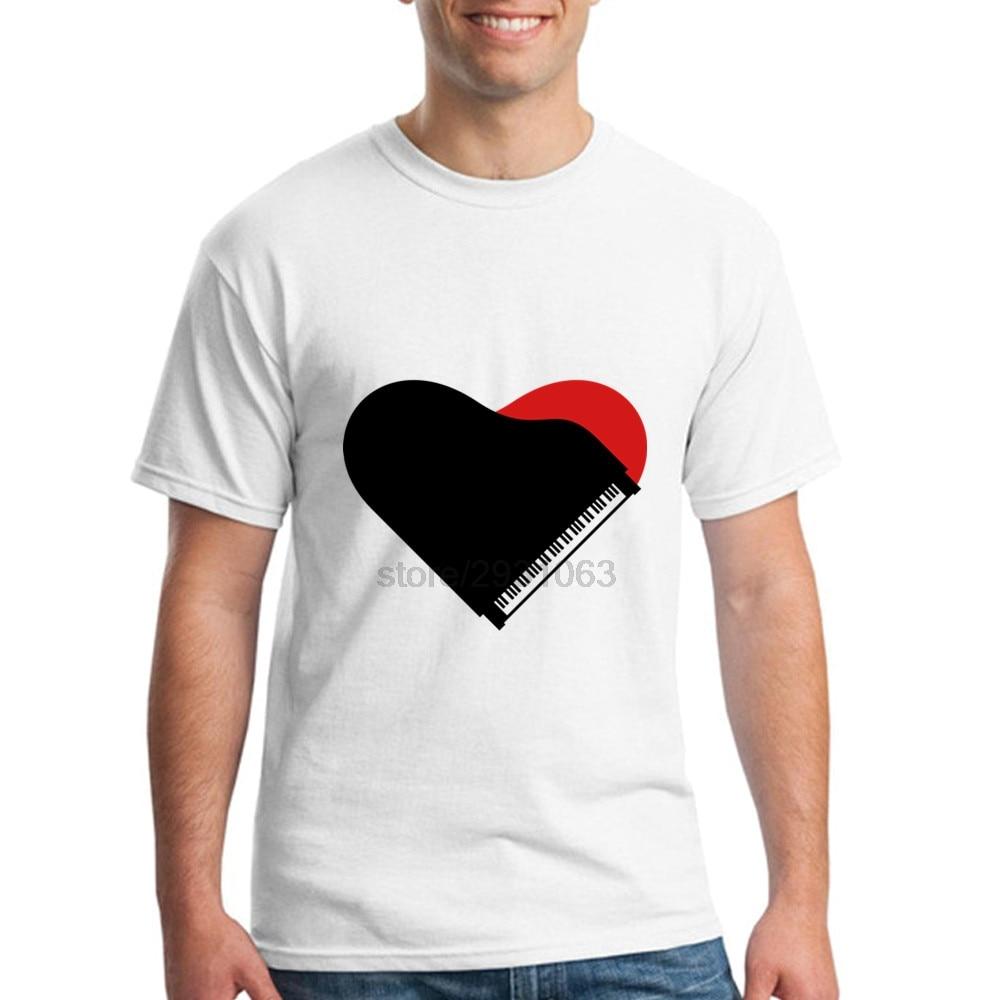 Design t shirt free software - New Color Men S 100 Cotton T Shirt Software For Man Piano Heart Love Design Short