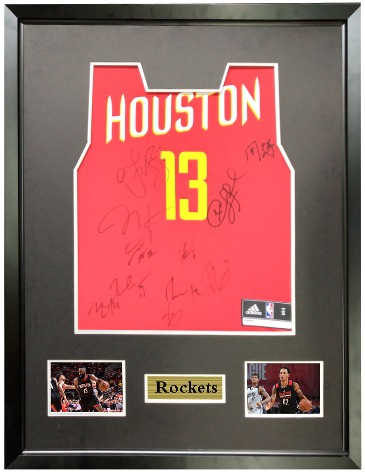 reputable site b2a1a c00f9 US $2700.0  James Harden Chris Paul signed autographed basketball shirt  jersey come with Sa coa framed Rockets-in Frame from Home & Garden on ...