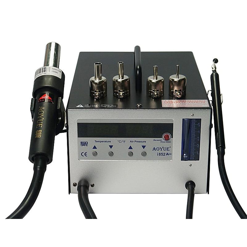 Смарт аппарат для bga сварки AOYUE 852A + + горячий воздух для поверхностного монтажа пистолетный паяльник станция с паяльными шариками