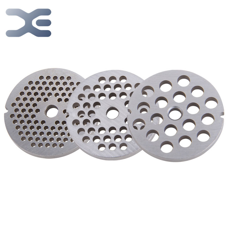 3pcs SET Parts For Meat Grinder 2.44in/62mm Diameter Stainless Steel Machine Parts 0.12in/3mm Thick Meat Grinder