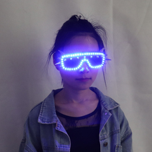 Free Shipping LED Glasses Rivet Punk Night Gig Heavy Metal Rock Spectacle For Chirstmas Party