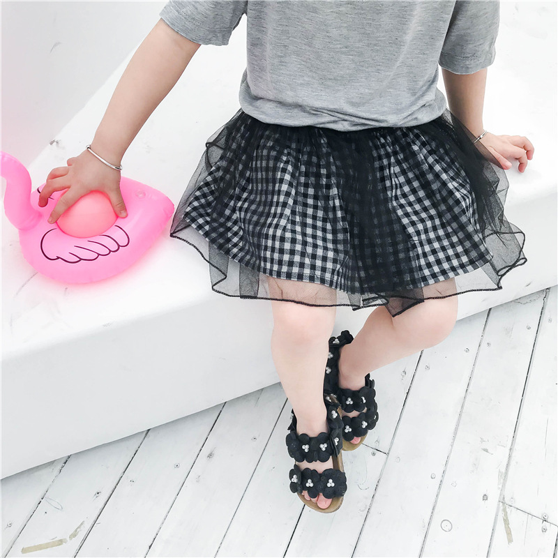 babymeisje TUTU rok chiffon geplooid gaas kinderen lente zomer tutu - Babykleding - Foto 2