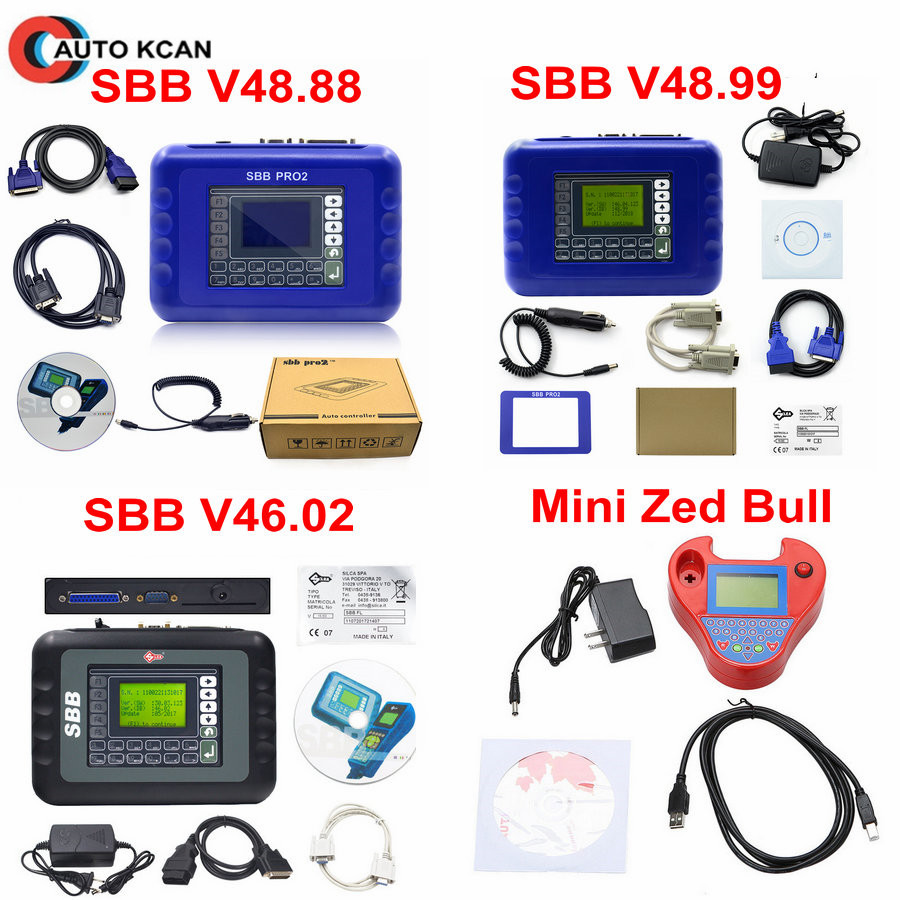 Smart Mini Zed-Bull Transponder Chip SBB V48.99 SBB V48.88 SBB V46.02 Key Maker Mini Zedbull Auto Key Programmer