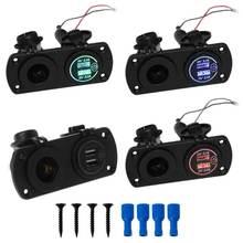 12v 24v двойной usb 21a автомобильное зарядное устройство адаптер