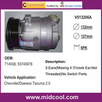 HIGH QUALITY AUTO AC COMPRESSOR V5 FOR DAEWOO CHEVROLET 714558 93740678