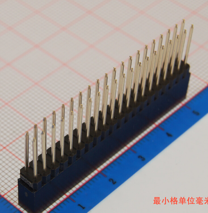 10pcs 2.54mm 2x20 40pin Double Row Female stackable Straight Header socket Strip pin header female socket 2 0mm spacing 2 40p double base two rows socket