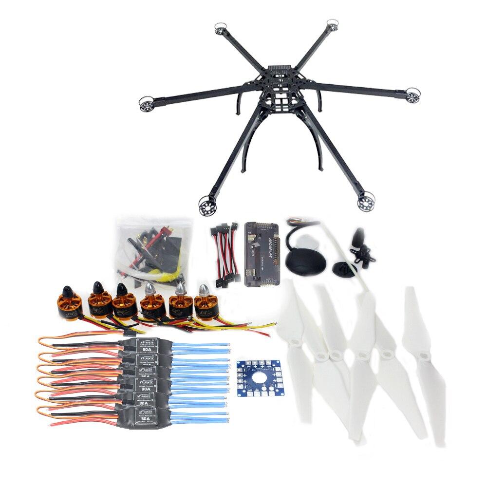 Kit de Drone GPS à cadre non assemblé pour avion Hexacopter à Six essieux de F10513-E avec contrôleur de vol Multicopter APM 2.8