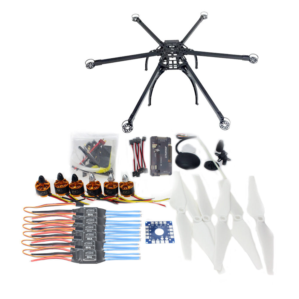 F10513-E Six-axle Folding Hexacopter Aircraft Unassembled Frame GPS Drone Kit with APM 2.8 Multicopter Flight Controller jmt six axle hexacopter gps drone kit with radiolink at10 2 4ghz 10ch tx