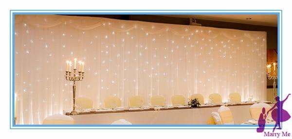 1 Set 3 6m Silk White Wedding Party Stage Decoration Backdrop