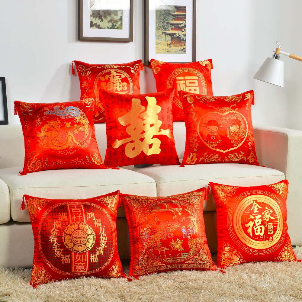 Decorative Throw Pillow Cover Backrest Bolster Cushion Cover Embroidery