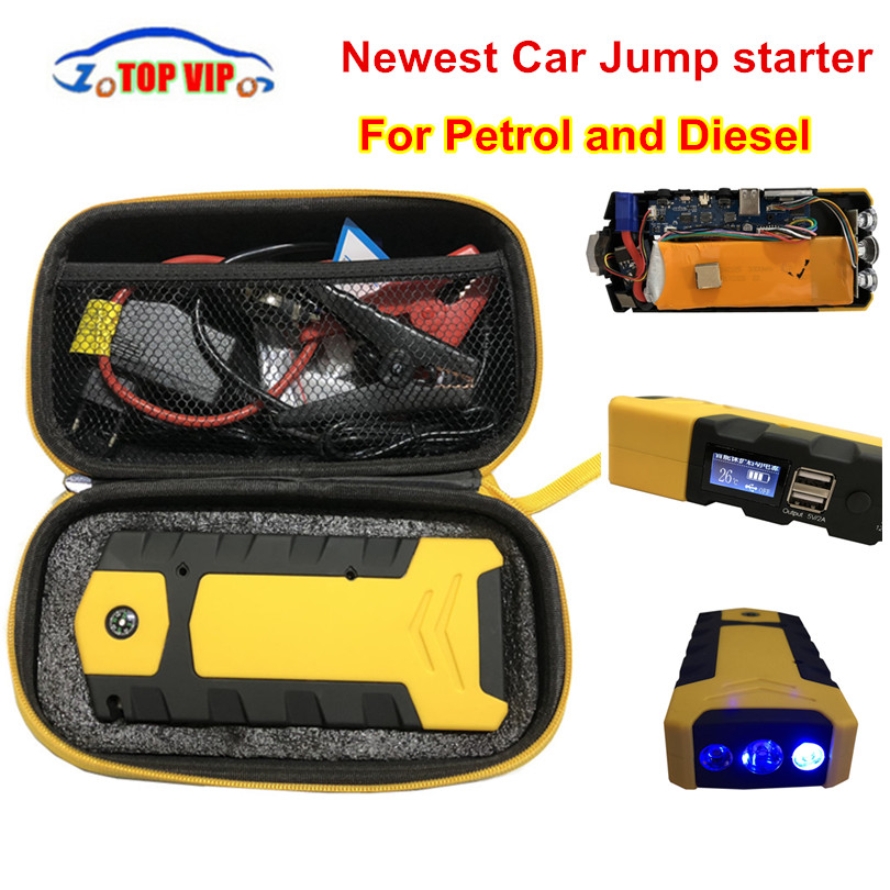 все цены на 2018 Newest Emergency 12V Car Battery Jump Starter Booster 13200mAh Power Bank 800A Peak Current Multi-function Car Jump Starter