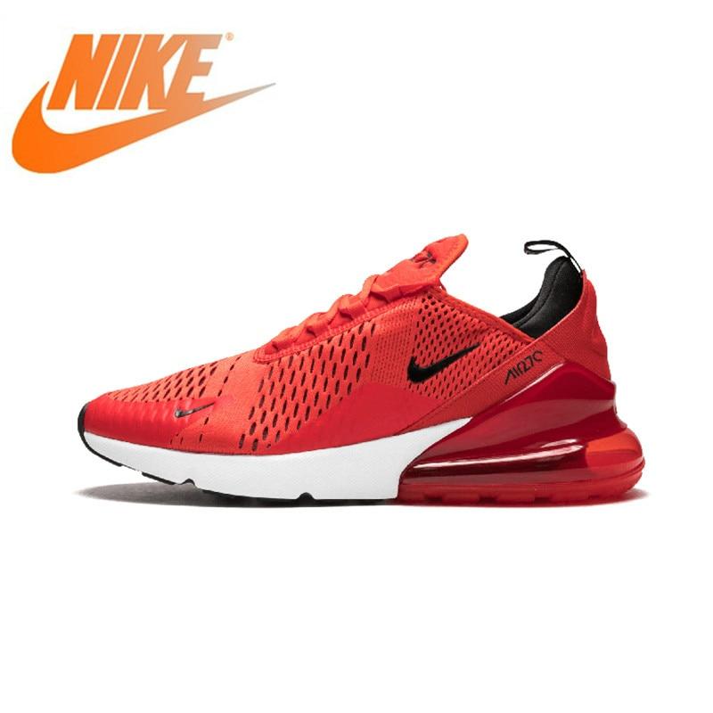 Chaussures de course Nike Air Max 270 authentique pour hommes chaussures de sport de plein Air classiques rouges AH8050-601 confortables et respirantes