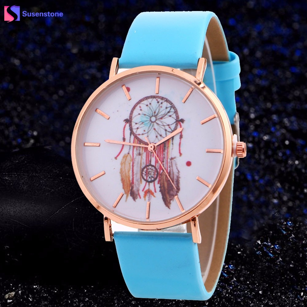 Hot Sale Women Analog Quartz Watch Dream Catcher Fashion Leather Band Table Wristwatch Female Ladies Clock relogio feminino hot new fashion quartz watch women gift rainbow design leather band analog alloy quartz wrist watch clock relogio feminino