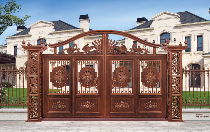 For Home Security Main Driveway Gates Aluminum Gate