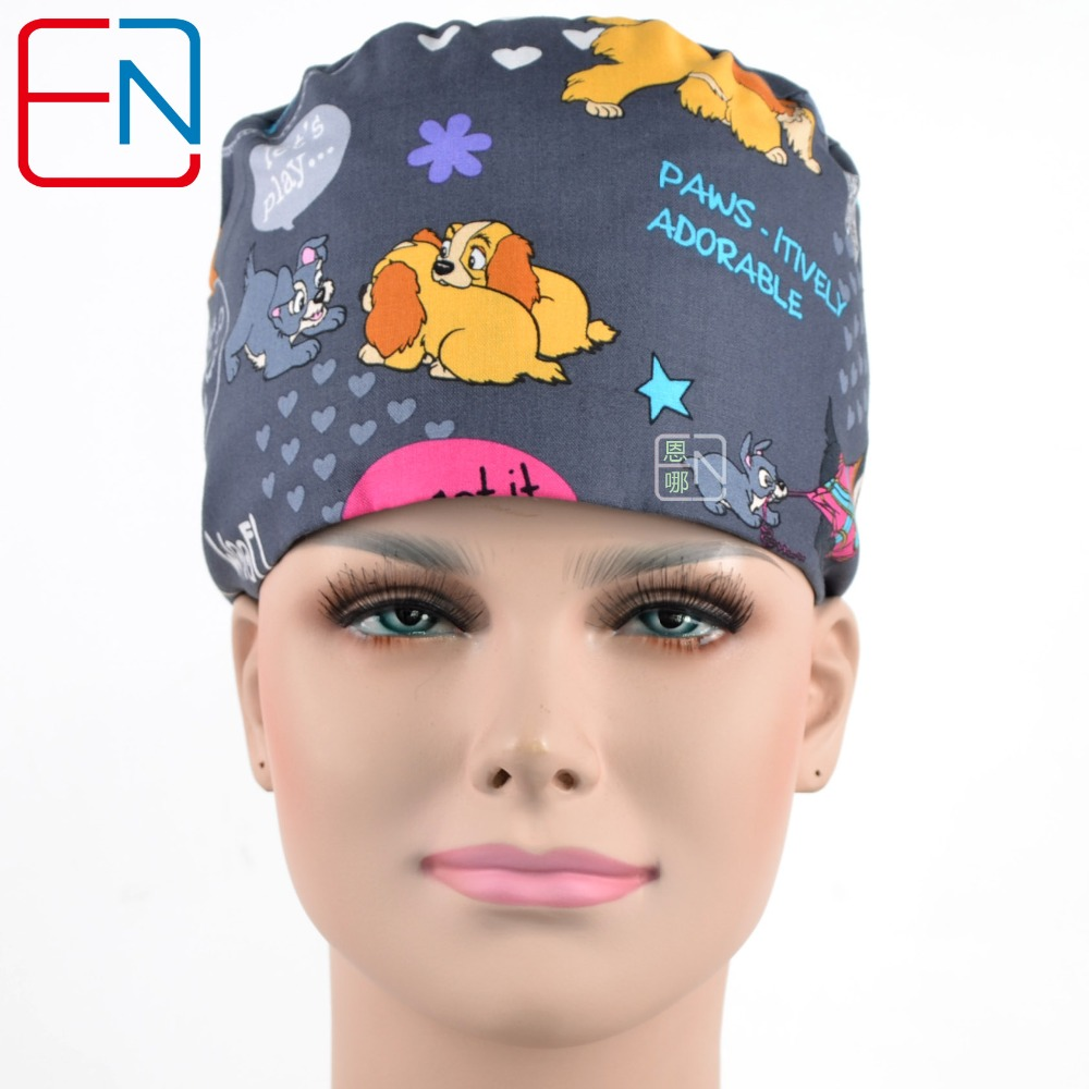 NEW  Adjustable Women Medical Caps With Sweatband In 2 Size  S M