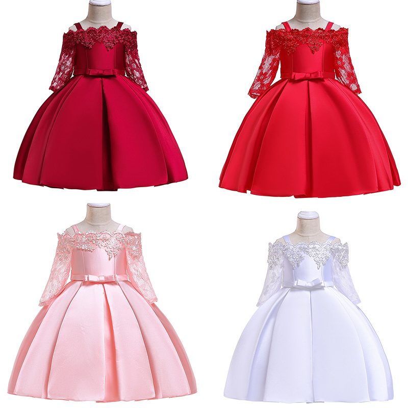 Girls Dress Christmas Kids Dresses For Girls Party Elegant Princess Dress For Girl Wedding Gown Children Clothing 3 6 8 10 Years