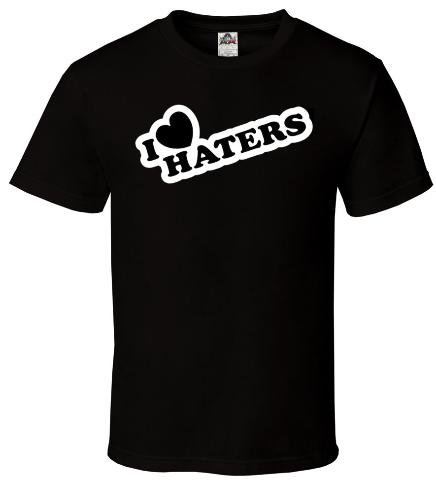 I Heart Haters - T-Shirt Black JDM Hip Hop Famous Sick Cool All Sizes S-2XL Print T Shirt Summer Casual Top Tee