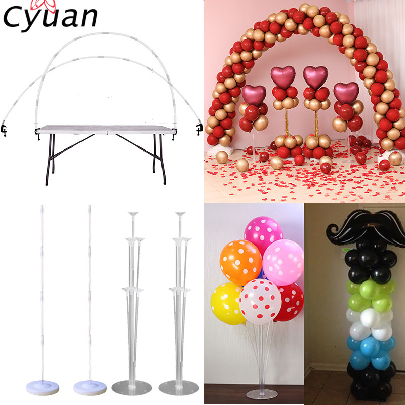 Cyuan Balloon Arch Stand Kits Plastic Column Stand with Base and Pole Latex Ballons Chain Clips for Birthday Wedding Party Decor-in Party DIY Decorations from Home & Garden on Aliexpress.com | Alibaba Group