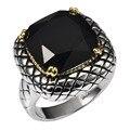 Huge Black onyx 925 Anel de Prata Esterlina Preço de Fábrica Para mulheres e Homens de Tamanho 6 7 8 9 10 11 F1515