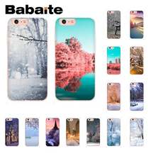 Babaite Winter in Central Park Geanimeerde Slim Custom Photo Soft Telefoon Case voor iPhone 8 7 6 6 s Plus X XS MAX 5 5 s SE XR 10 Cover(China)