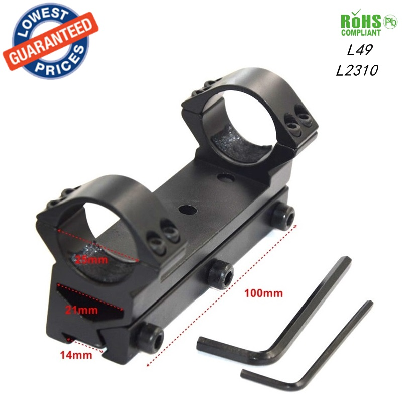 1pc L49 Dual Ring 100mm long 25mm Ring tactical hunting mounts 14mm Weaver Scope Rail Mount extend Picatinny Weaver Mount
