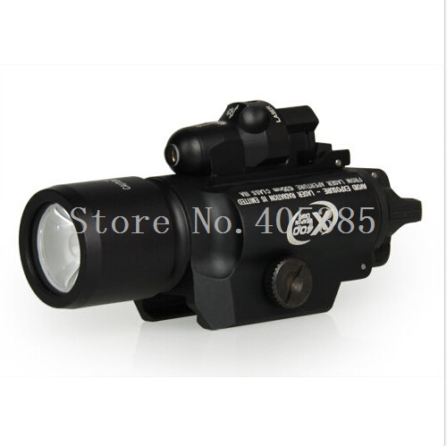 New Arrival Tactical X400 Handgun Flashlight With Red Laser Sight Good quality for Air Soft Pistol Guns and Weapons x400 led weapon light handgun flashlight with red laser sight for rifle scope outdoor hunting shooting camping free shipping