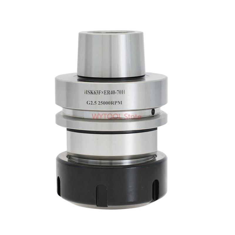 HSK63F ER40 ER32 70L maniglia chuck portautensili per CNC mill equilibrio G2.5 25,000 rpm macchina di Falegnameria di CNC di Fresatura gambo