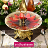 Tempered Glass Fruit Plates Stand Pastry Tray Candy Dishes Cake Desserts 2 Tier Party Home Decoration