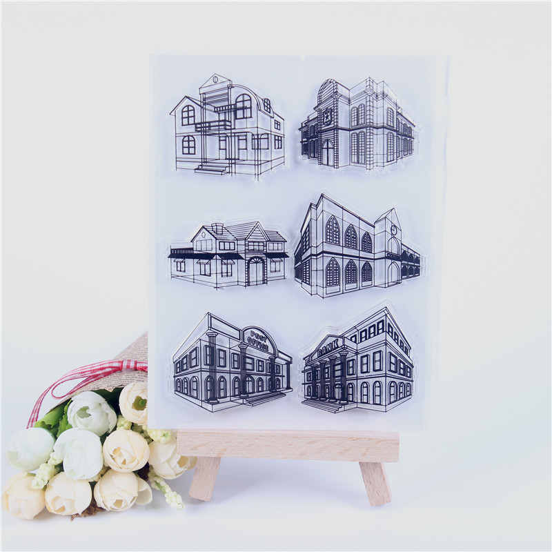 Rubber Silicone Clear Stamps for Scrapbooking Tampons Transparents Seal Background Stamp Card Making Diy Big house