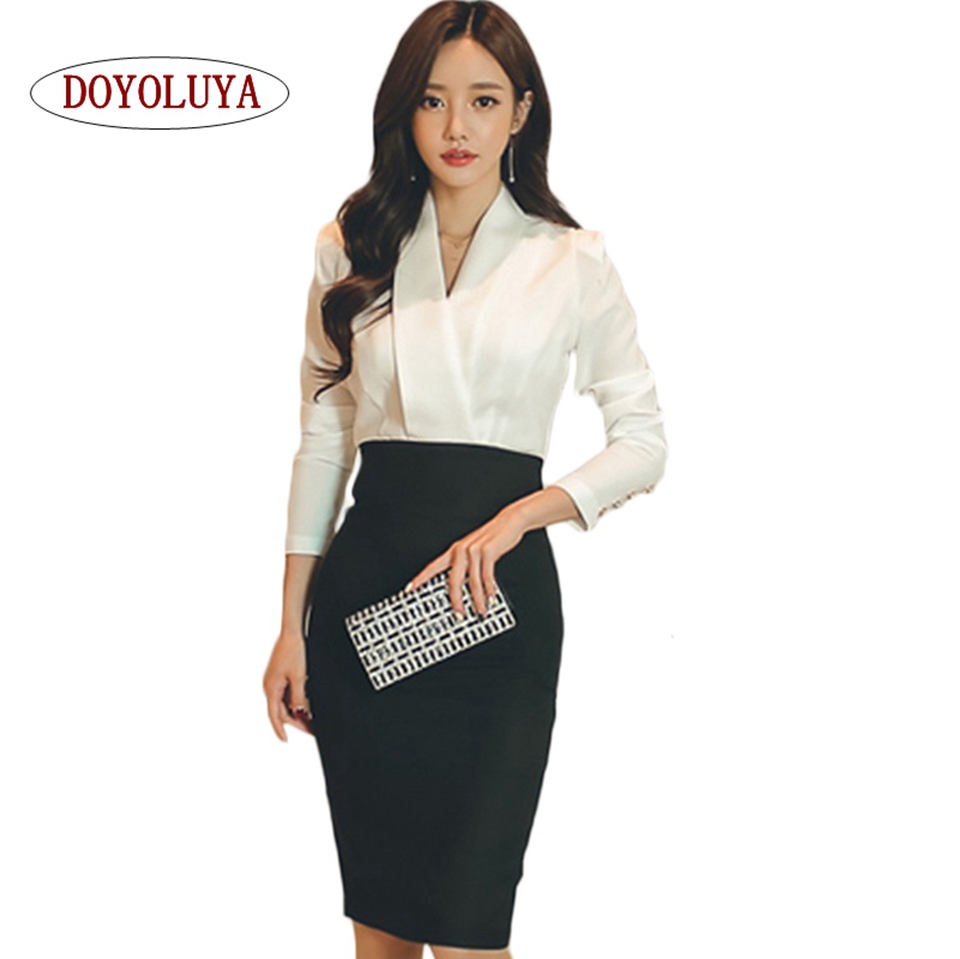 Doyoluya High Quality Ladies Autumn Office Wear Long