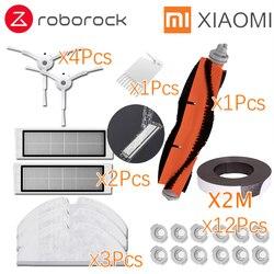 Xiaomi roborock robô s50 s51 kits de peças sobressalentes limpeza panos mop seco molhado esfregar tanque de água filtro escova lateral do rolo