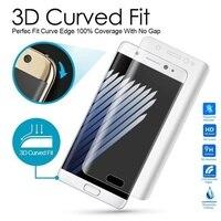 Carprie Горячая распродажа! Высокое качество Новый Для SamsungGalaxy Примечание 7 закаленное Стекло Ясно 3D полное покрытие Экран Плёнки Protetor