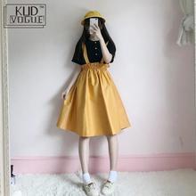 Корейский Kawaii из двух частей Набор Женское Платье Студентка Японская Сладкая Система Мягкая Сестр