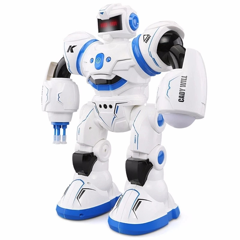 Hot Sell Remote Control Intelligent Induction Humanity Robot 2.4G Extra Long Standby Launch Bullet Baby Kids Early education toy