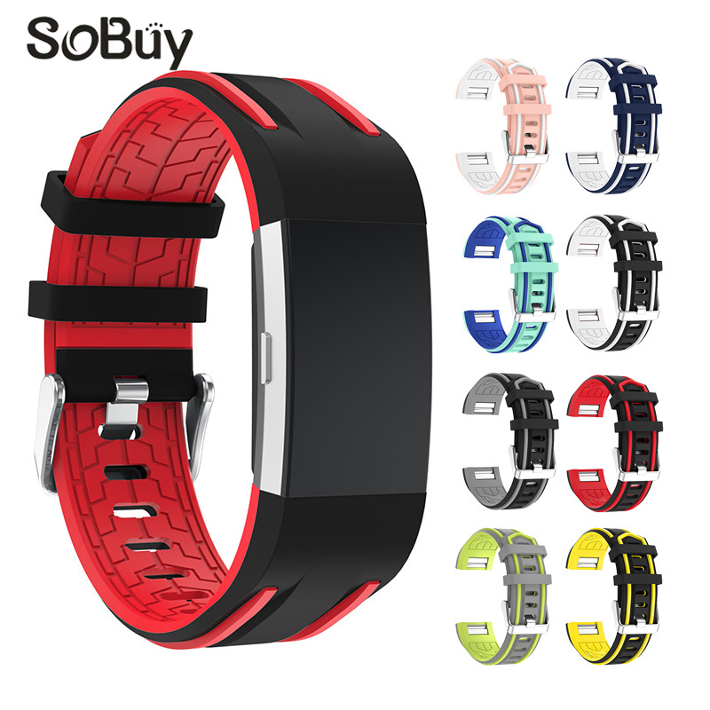 So buy sport silicone strap for fitbit charge 2 watch rubber bracelet Stainless steel buckle Silica gel belt charge2 wrist band аксессуар jbl jblchargecasegray grey чехол для charge charge2 charge2
