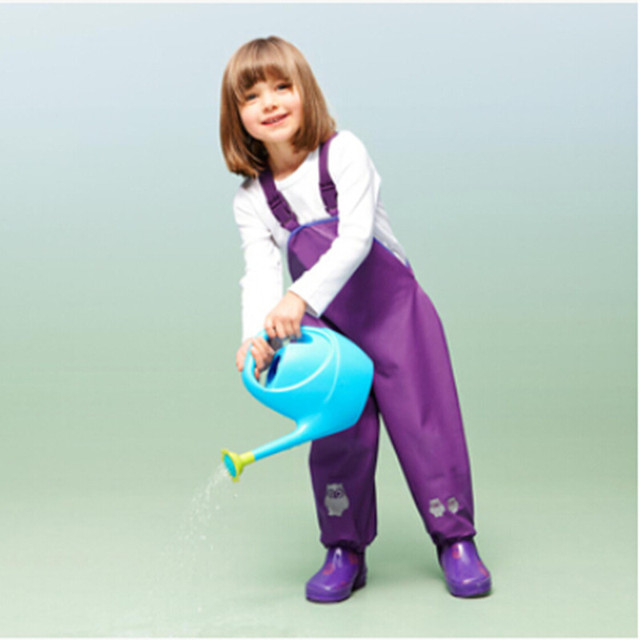 Spring Autumn waterproof children overalls child bib pants boys rain pants girls beach pants breathable windproof